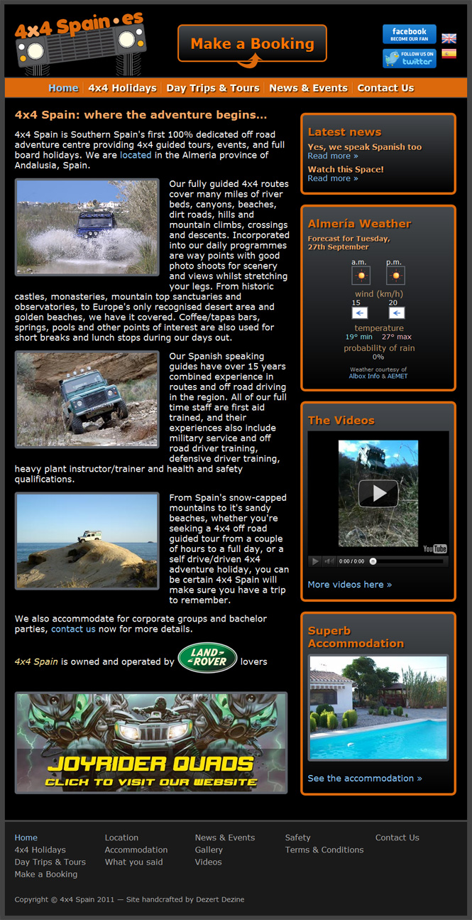 4x4 Spain website screenshot