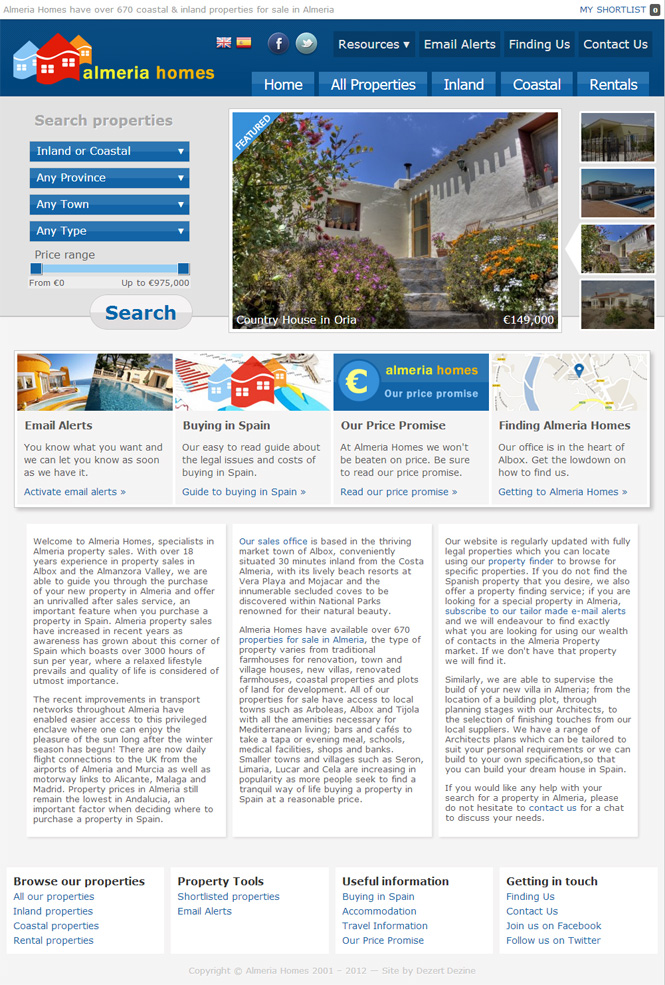Almeria Homes Website