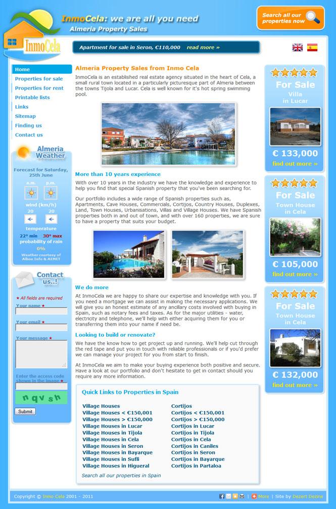 Inmo Cela website