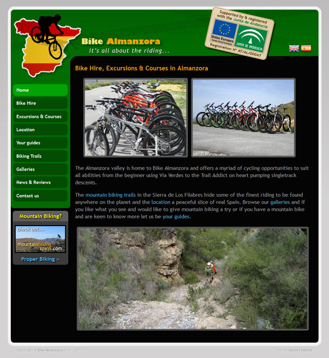 Bike Almanzora website