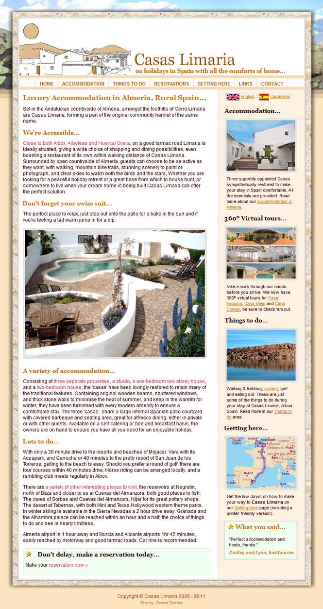 Casas Limaria website