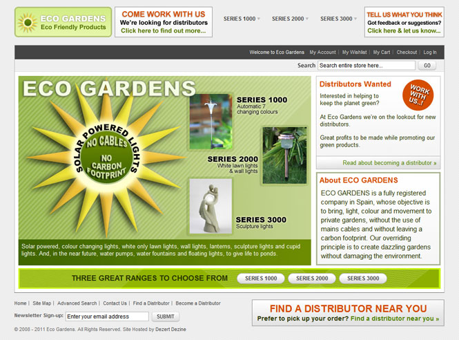 Eco Gardens website