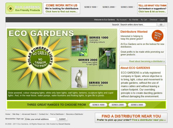 Eco Gardens website