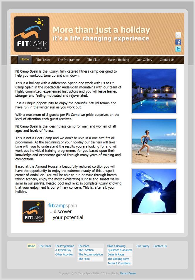 Fit Camp Spain - website