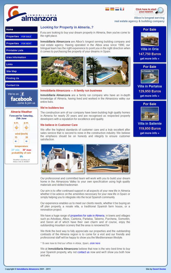 Inmobiliaria Almanzora website