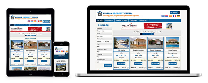 Almeria Property Finder - Multiple device