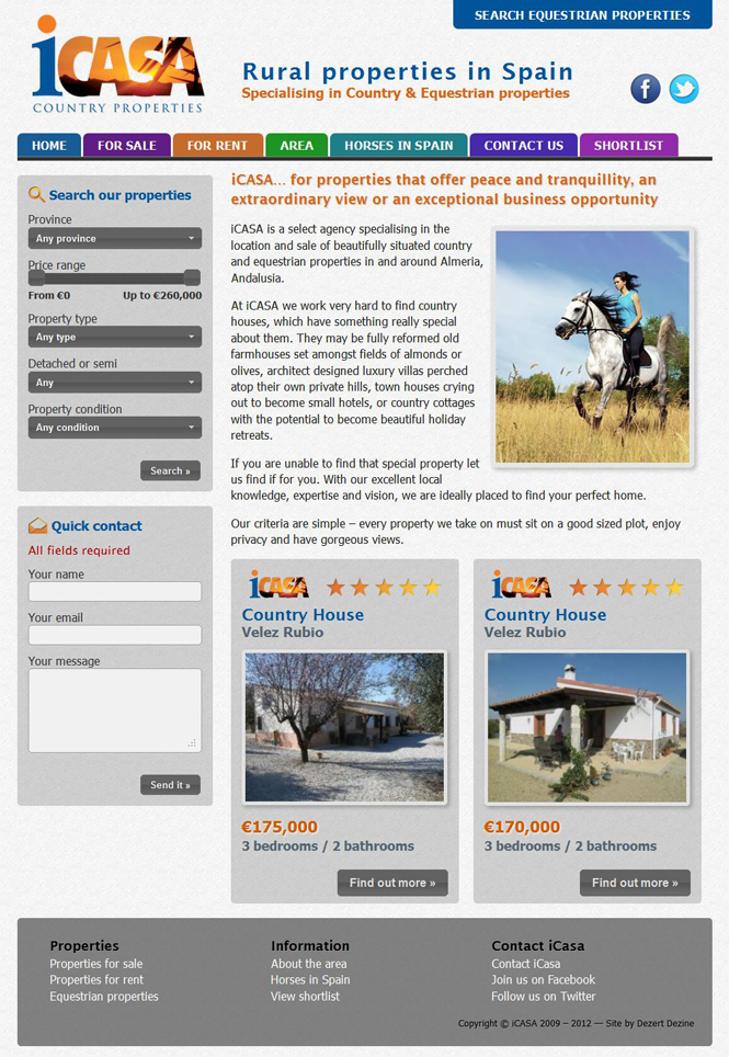 iCASA Spain website